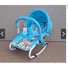 Ghế rung cho bé yêu hàng cao cấp (Có bảo hiểm + đồ chơi + mái che + điều chỉnh nằm ngồi)
