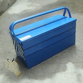 Thùng đồng nghề 3 tầng tự mở bằng thép dày Đài Loan L0043-18 465 x 200 x 195 tặng kèm 1 đôi găng tay bảo hộ cảm ứng