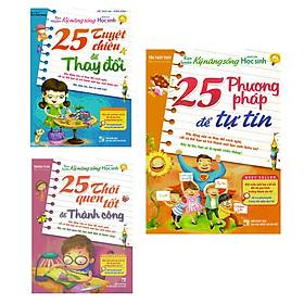 Combo Rèn Luyện Kỹ Năng Sống: 25 Phương Pháp Để Tự Tin + 25 Tuyệt Chiêu Để Thay Đổi + 25 Thói Quen Tốt Để Thành Công