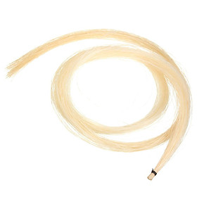1 Hank of Violin Bow Hair White Horse Tail for Violin Viola Cello Bass Bow 30 Inch