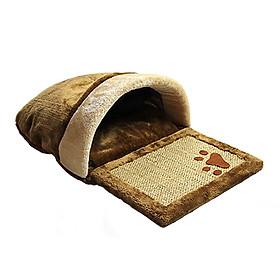 Hình đại diện sản phẩm Mimi buy AIMIGOU natural sword horse cat scratch board dual use cat nest kennel pet nest cat sleeping bag cat toy