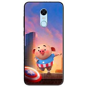 Ốp lưng in cho Xiaomi Redmi 5 Mẫu Heo CAP
