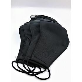 Set 3 khẩu trang vải đen - Kate lụa cao cấp 3 lớp