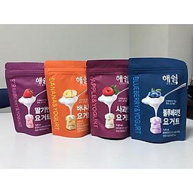 Combo 4 vị Sữa chua sấy lạnh Haeswim Hàn Quốc cho bé - Vị Việt Quất, Chuối, Táo, Dâu