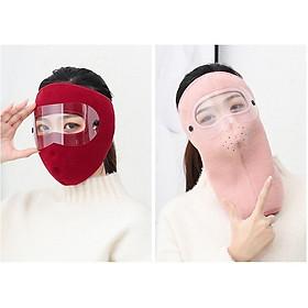 Khẩu trang ninja trùm kín mặt thêm kính bảo vệ mắt chống nắng chống gió bụi nắng hanh mùa đông nam nữ