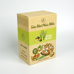 Sữa Hạt Phúc Hiếu Loại Bổ Sung Tảo Xoắn Dành Cho Cả Gia Đình (400g/ hộp 20 gói)