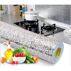 Cuộn  decal giấy bạc dán bếp tráng nhôm cách nhiệt, chống thấm tốt ( 3m x 0.6m ), Giúp căn bếp nhà bạn luôn sáng bóng