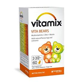 Thực phẩm chức năng viên nhai tăng đề kháng, bổ sung vitamin tổng hợp Vitamix Vitabears dành cho bé