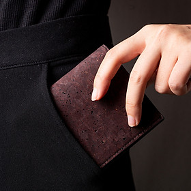 Ví Da Nam Vỏ Cây Cork Mardlian, RFID Wallet, Thông Minh, Tối Giản Mini Nhỏ Gọn Cao Cấp Dáng Đứng