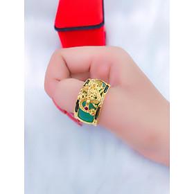 Nhẫn Nam Phong Thủy Long Đuôi Voi Đính Đá - Vừa Phong Thủy - Vừa Thời Trang