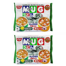 Combo 2 gói mì MUG Nhật Bản cho bé - vị thịt heo