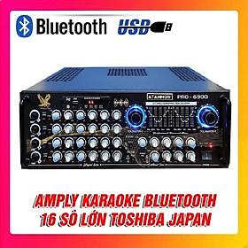 Amply Bluetooth Karaoke ATANNOII PRO 6900 - Ampli 16 sò lớn, 2 Quạt gió, tích hợp lọc xì - Hàng chính hãng