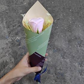 Hoa hồng sáp 1 bông V.4, quà tặng valentine, quà tặng 8/3, quà tặng phụ nữ, lãng mạn - Màu ngẫu nhiên