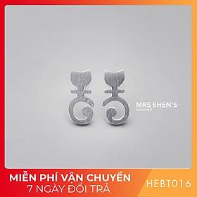 Bông hoa tai nữ bạc s925 cao cấp HEBT016 BH trọn đời