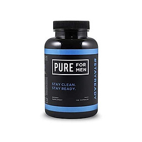 Pure for Men - The Original Vegan Cleanliness Fiber Supplement - Proven Proprietary Formula (120 Capsules with Aloe)
