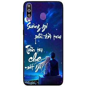 Ốp lưng dành cho Samsung Galaxy M30 mẫu Thư Pháp Sương Gió