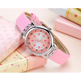 Đồng hồ trẻ em hình hoa có đính đá sang trọng