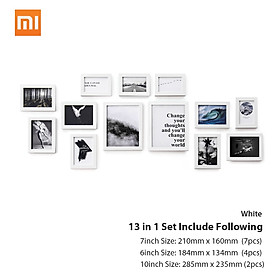 13PCS/lot Xiaomi Eco-chain H7 MDF Fiber-plate Quality Vintage Photo Frame Home Decor Retro Wedding Couple Recommendation