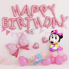 Set trang trí sinh nhật happy birthday cho bé tuổi chuột mickey siêu dễ thương đầy đủ phụ kiện C05