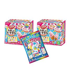 Combo 3 hộp kẹo sáng tạo popin cookin: 2 làm kem + 1 thế giới sắc màu