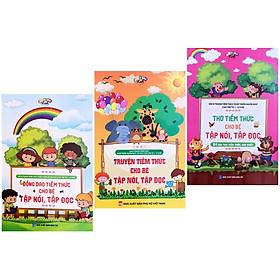 Combo đồng dao, thơ, truyện tiềm thức cho bé tập nói tập đọc