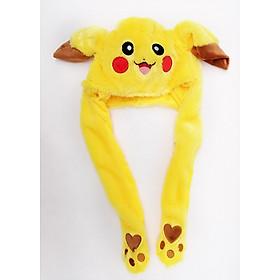 Mũ pikachu tai giật theo nhạc