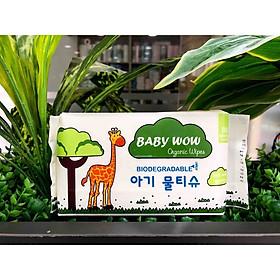 Khăn ướt hữu cơ Baby Wow - 80 tờ/gói