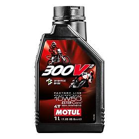 Nhớt Xe Số Motul 300V² 4t Factory Line 10w50 12x1l Ap (1L)