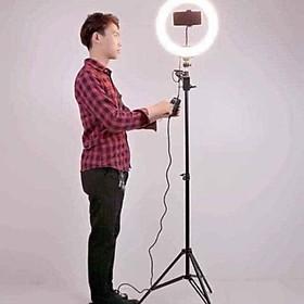 Đèn Livestream Size 26cm Dành Cho Bán Hàng Online, Quần Áo, Makeup - Cây live stream size 26