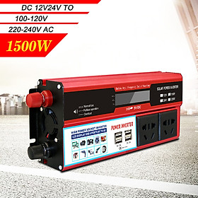 Power Inverter Vehicle Power Converter Universal Modified Sine Wave 1500W DC 12V to 220V AC