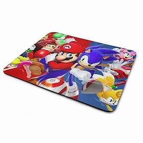 Lót Chuột - Mario Và Sonic (20 x 24 cm)