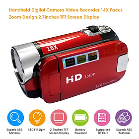 Digital Camera Video Recorder 16X F-ocus Zoom Design 2.7Inches TFT Screen Display Supported S D Card Batter-y Powered