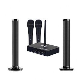 Bộ loa karaoke UHF SK30 kèm 2 micro không dây