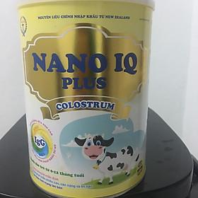 Sữa Bột NANO IQ PLUS COLOSTRUM Tăng Đề Kháng Tăng Cân Cho Bé Dưới 12 Tháng Lon 900g
