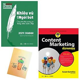 Combo Content Marketing For Dummies và Khiêu Vũ Với Ngòi Bút( Tặng Kèm Sổ Tay Xương Rồng)