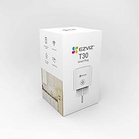 Ổ cắm thông minh Wifi EZVIZ T30, tích hợp điều khiển bằng giọng nói, từ xa qua app điện thoại, hẹn giờ tắt mở, điều khiển  - Hàng Chính Hãng