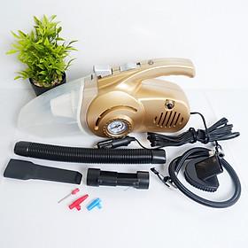 Máy Hút Bụi Ô Tô Kiêm Bơm Lốp,  Đo Áp Suất, Đèn Pin Chiếu Sáng 4 Trong 1 - Máy hút bụi cầm tay đa năng - Hàng chính hãng
