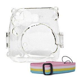 Crystal Transparent Protective Case Cover Pouch Shoulder Strap for Fuji Fujifilm Instax Camera Mini 9 8 8+Instant Accessories