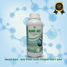 Nano bạc thủy sản AQT chính hãng - phòng trị bệnh thủy sản, xử lý nước ao, bể cá thủy sinh nồng độ 500ppm