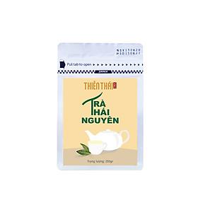 Trà Xanh Thái Nguyên - Trà Bắc - Gói 200gr - nước xanh thơm cốm hậu ngọt cánh trà cong đẹp, trà xanh thái nguyên không lên men, nõn tôm thượng hạng, làm quà biếu tặng, đạt tiêu chuẩn