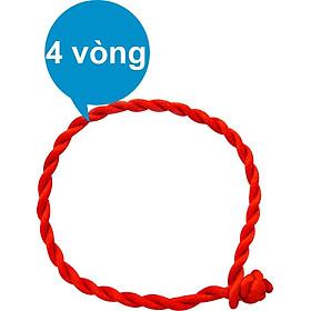 Combo 4 Vòng Đeo Tay Chân Chỉ Đỏ Phong Cách Cho Nam Nữ (Free Size)