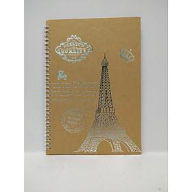 Sổ Tay Lò Xo Bìa Cứng Thép Eiffel A5