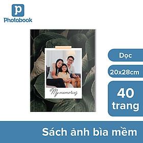 """[E-voucher] In album theo yêu cầu bìa mềm 40 trang 8"""" x 11"""" khổ dọc (20 x 28cm) - Web Photobook"""