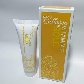 Kem dưỡng da Collagen & Vitamin E Gold tuýp 20g- Giúp dưỡng ẩm da, làm mềm da, tăng cường đàn hồi cho da hạn chế lão hóa da do tuổi tác da khô rát nứt nẻ, góp phần thúc đẩy tái tạo da, cho làn da mịn màng tươi trẻ