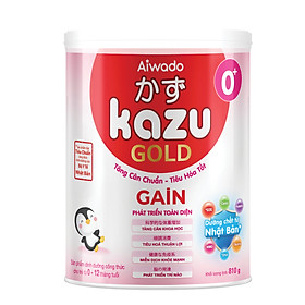 [Tinh tuý dưỡng chất Nhật Bản]  Sữa bột KAZU GAIN GOLD 810g 0+ (dưới 12 tháng)