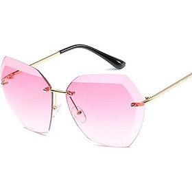 Mắt kính nữ kính mát thời trang lục giác hình ốc MS 22