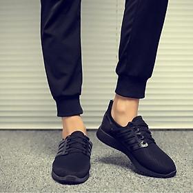 Giày thể thao cặp đôi nam nữ buộc dây C95 đen