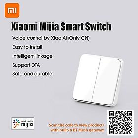 Xiaomi Công tắc thông minh Xiaomi Mijia ,Công tắc tường, Công tắc điều khiển Bluetôth Remoto,Hỗ trợ điều khiển bằng giọng nói thông minh sử dụng ứng dựng điện thoại
