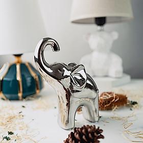 Tượng chú voi gốm sứ trang trí cao cấp DS001