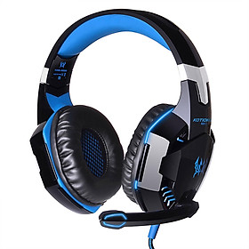 EACH G2000 Over-ear Game Gaming Headphone Headset Earphone Headband with Mic Stereo Bass LED Light for PC Game